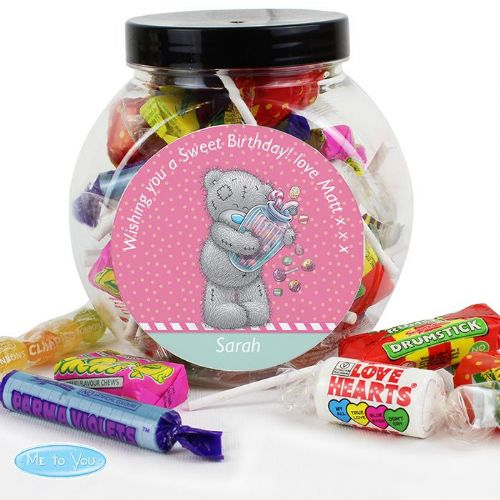 Personalised Me to You Candy Girl Sweets Jar